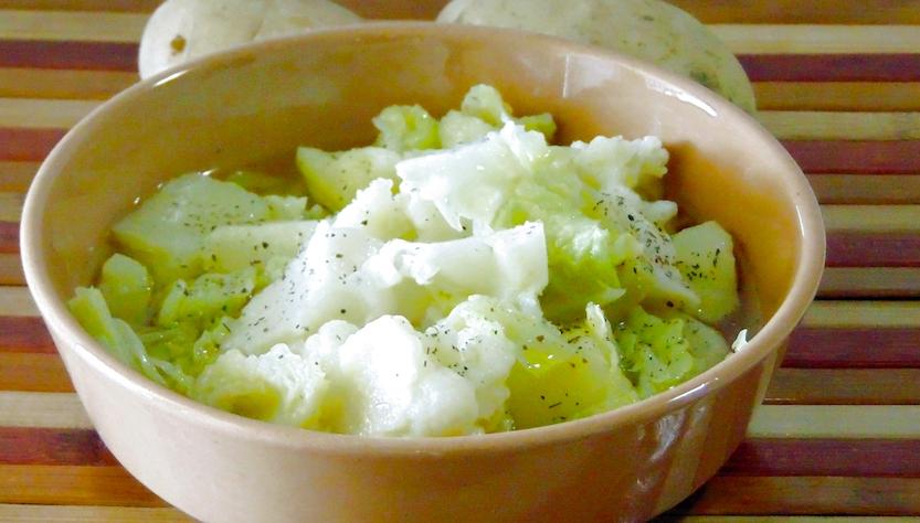 Menù autunnale: Zuppa di Cavolfiore, Verza e Patate