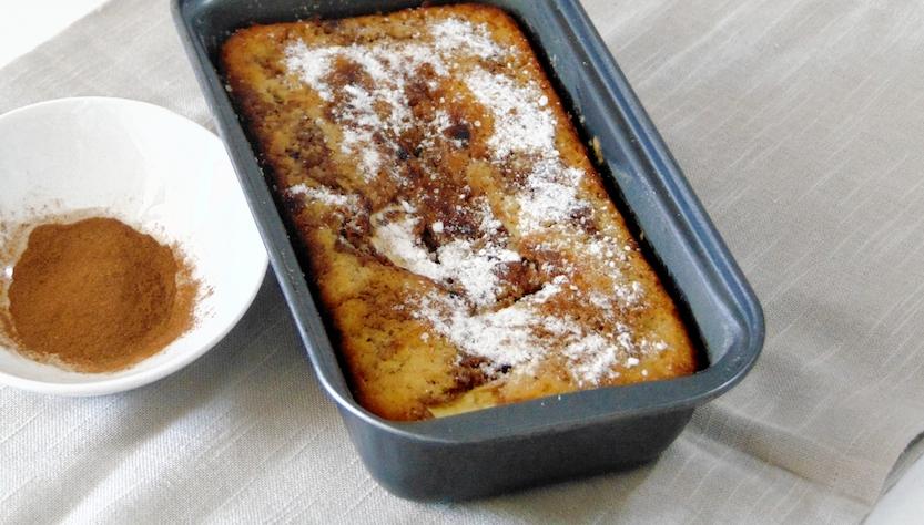 Menù autunnale: plumcake cannella