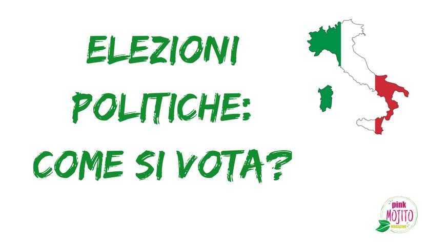 Elezioni Politiche Come Si Vota