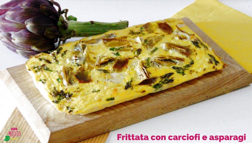 Frittata al forno sfiziosa con carciofi e asparagi